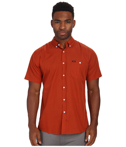 Brixton - Central S/S Woven (Rust) Men