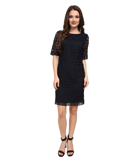 Tahari by ASL Petite - Petite Frank Dress (Navy) Women