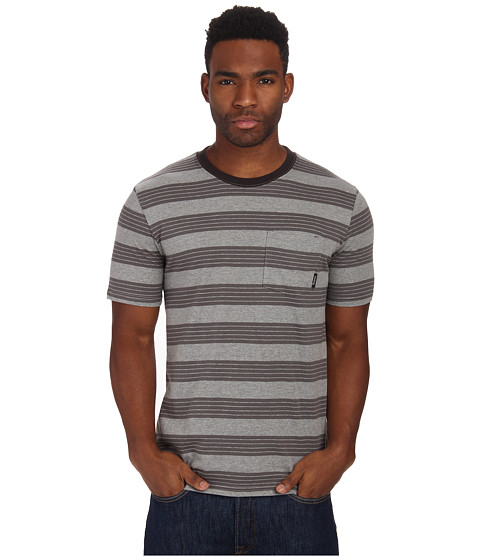 Brixton - Hilt S/S Pocket Knit (Heather Grey) Men's Short Sleeve Pullover