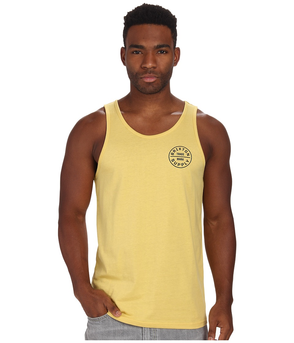 Brixton - Oath Tank Top (Washed Yellow) Men's Sleeveless