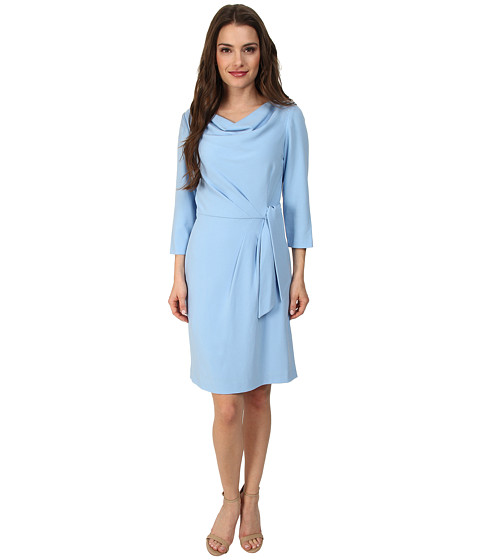 Tahari by ASL Petite - Petite Thomas Dress (Pool Blue) Women