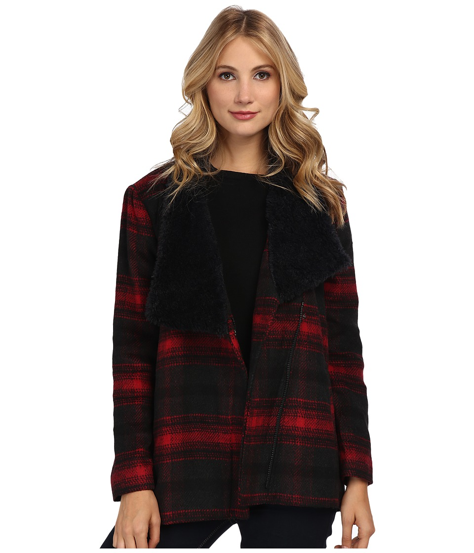 Jack by BB Dakota - Rydell Plaid Jacket (Black/Red) Women