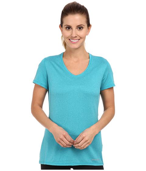 Brooks - Essential S/S V-neck (Caribbean) Women's Short Sleeve Pullover