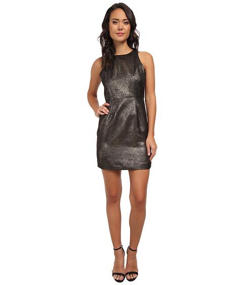 Jack by BB Dakota - Lizanne Bronze Animal Print Dress (Black/Bronze) Women's Dress
