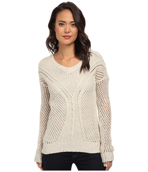 Jack by BB Dakota - Damia Cable Knit Sweater (Linen) Women's Sweater