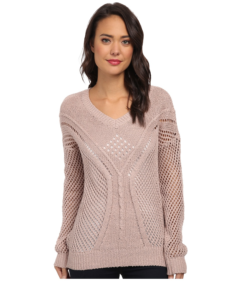 Jack by BB Dakota - Damia Cable Knit Sweater (Pink Shell) Women