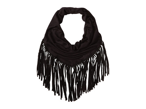 BCBGeneration - Triangle Fringe Necklace Scarf (Black) Scarves