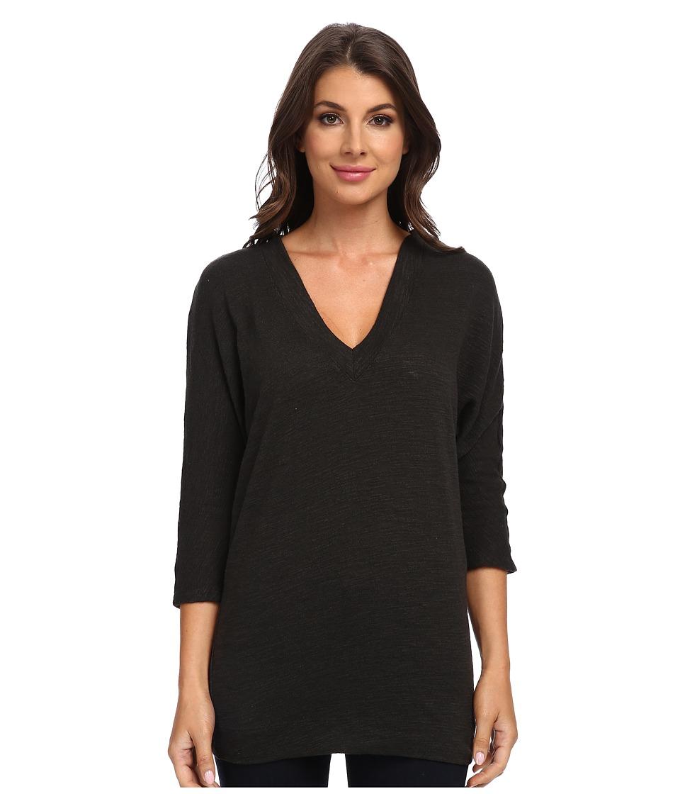 Three Dots - 3/4 V-Neck Dolman Top (Dark Peyote) Women's Long Sleeve Pullover