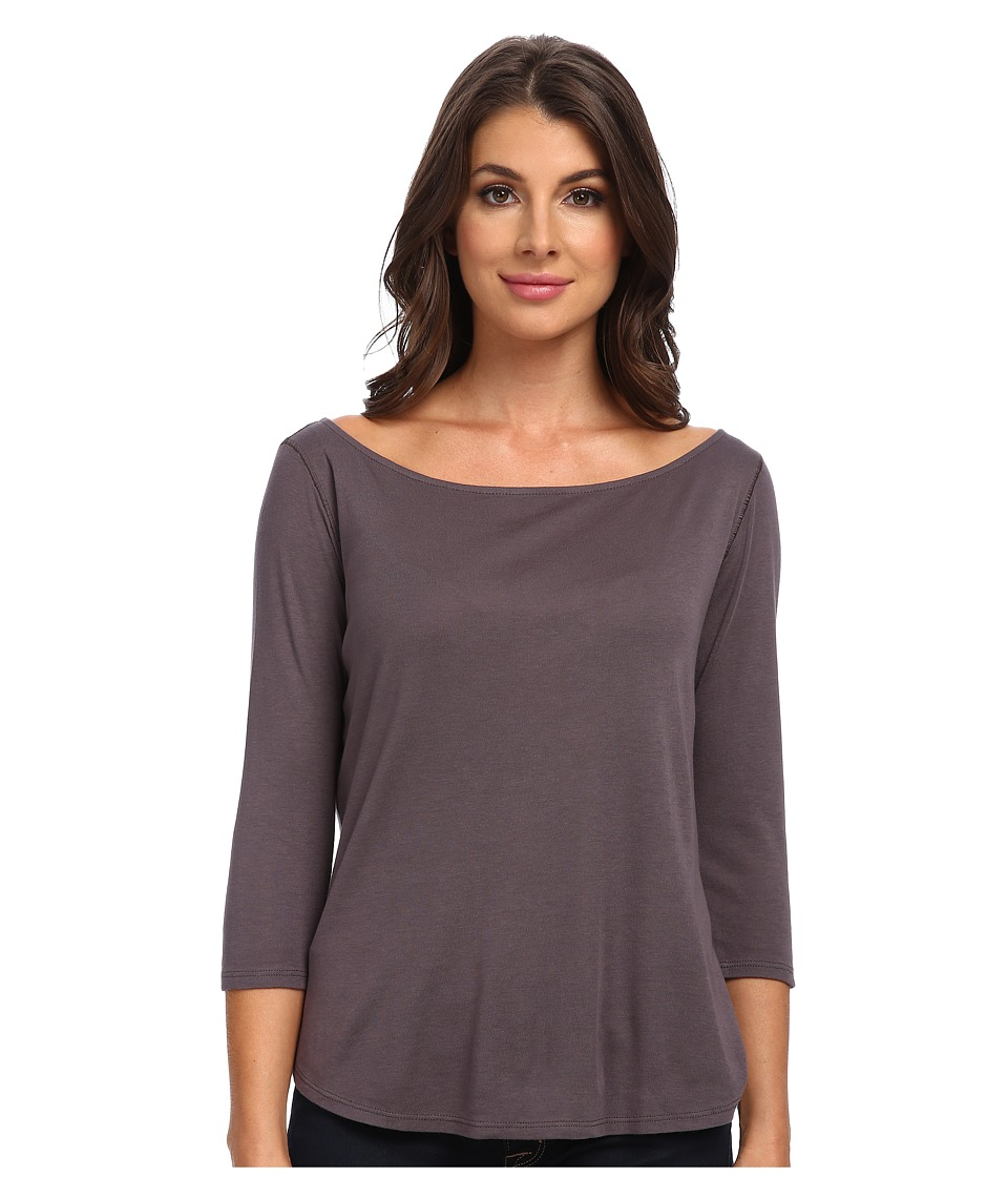 Three Dots - Devon 3/4 Sleeve Easy Fit Boatneck (Monet) Women