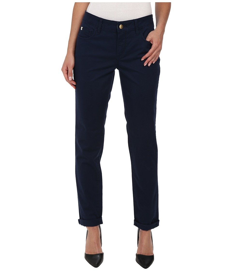 Christopher Blue - Diane Roll Boyfriend Carmel Twill (Nautical Navy) Women's Casual Pants