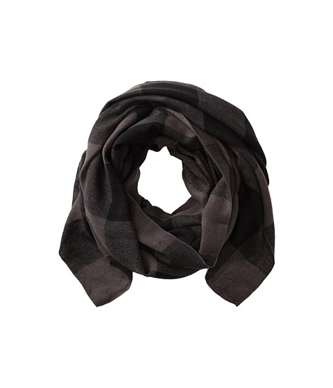 Hat Attack - Buffalo Check Scarf (Grey/Black) Scarves