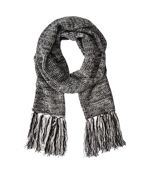 Hat Attack - Marled Long Skinny Scarf (Black) Scarves