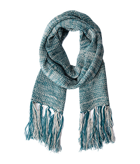 Hat Attack - Marled Long Skinny Scarf (Teal) Scarves