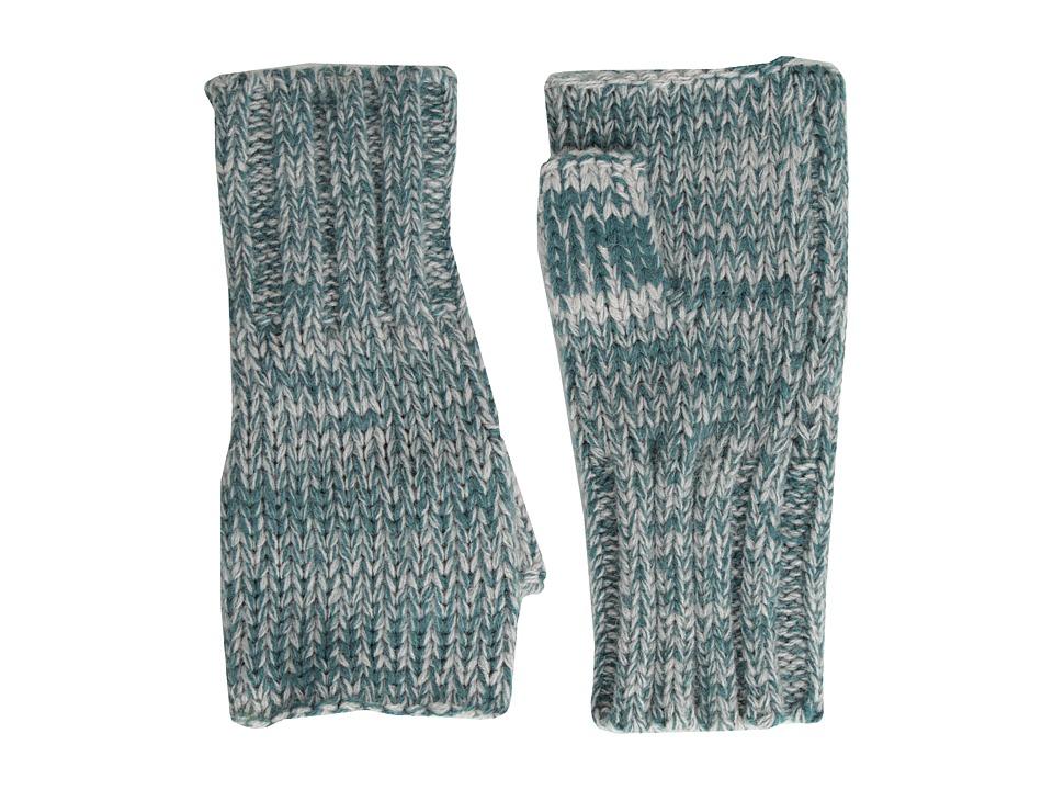 Hat Attack - Marled Fingerless (Teal) Dress Gloves