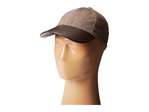 Hat Attack - Tweed/Leather Cap (Brown) Caps