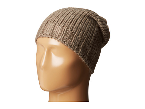 Hat Attack - Solid Knit Slouchy (Taupe) Beanies