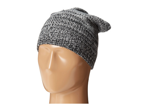Hat Attack - Marled Slouchy (Black) Beanies