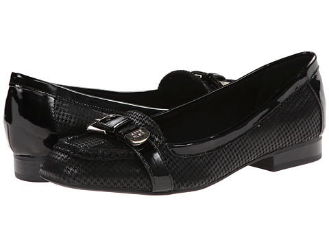 Anne Klein - AKTyrik (Black/Black Rp) Women's Dress Flat Shoes