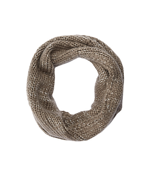 Hat Attack - Metallic Knit Loop (Taupe/Silver) Scarves