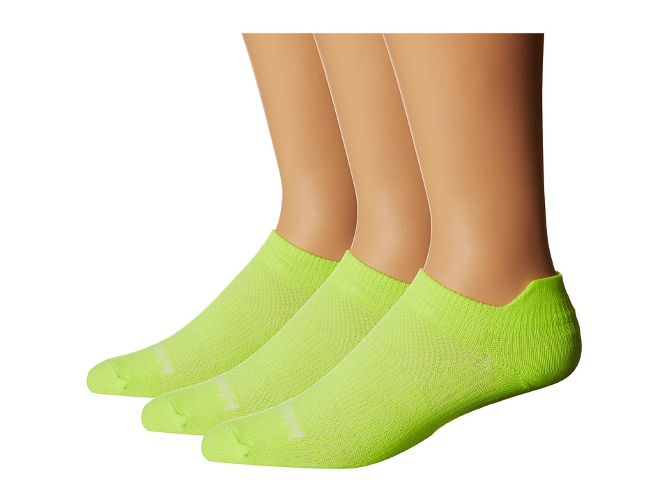 Wrightsock - Coolmesh II Tab 3 Pack (Yellow) Low Cut Socks Shoes