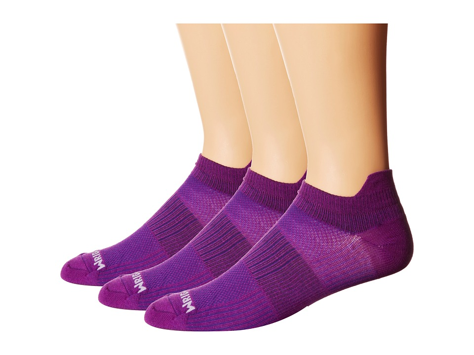Wrightsock - Coolmesh II Tab 3 Pack (Deep Plum) Low Cut Socks Shoes