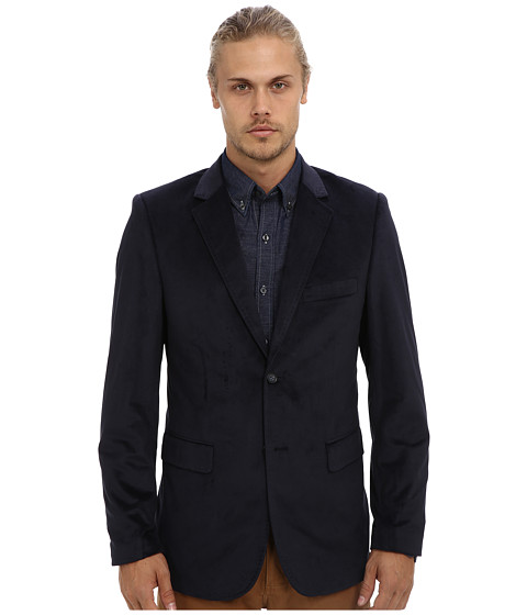 Report Collection - Velvet Blazer (Navy2) Men