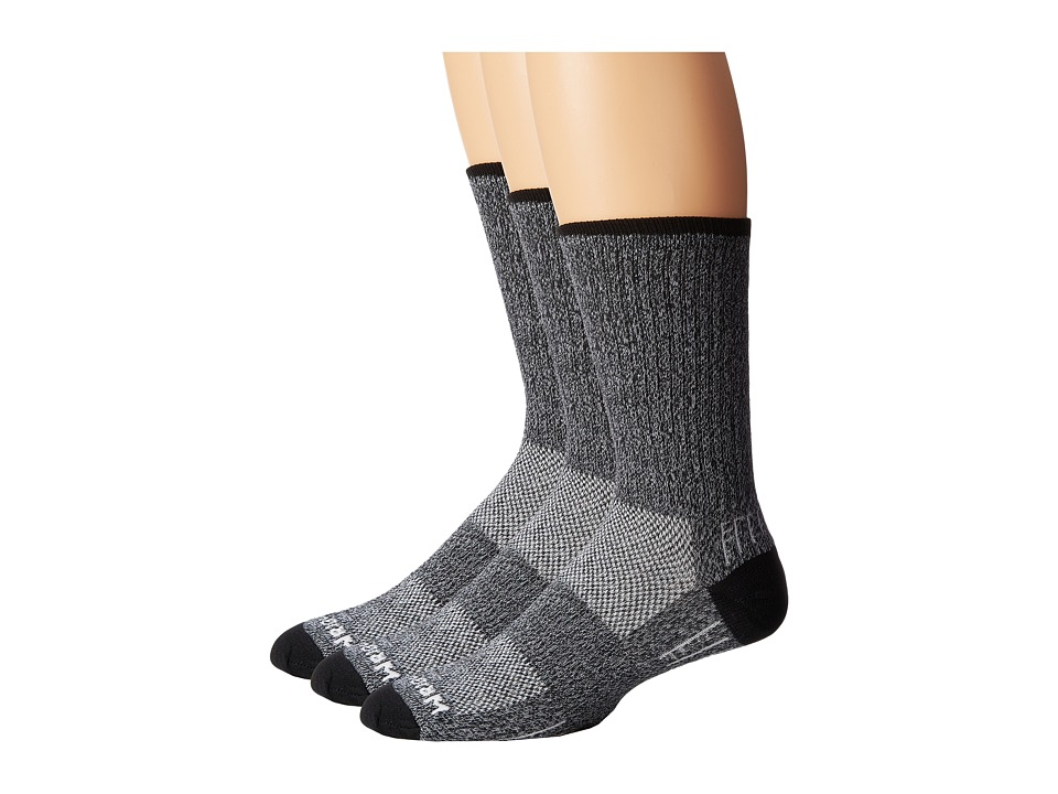 Wrightsock - Adventure Crew 3 Pack (Black) Crew Cut Socks Shoes
