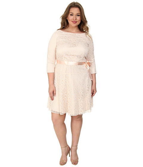 Tahari by ASL Plus - Plus Size Irene Dress (Blush Pink) Women