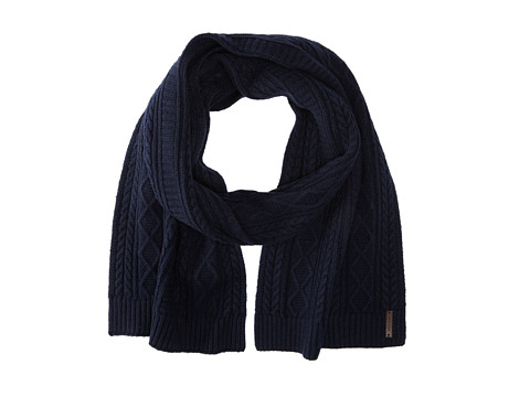 Cole Haan - Cable Muffler (Blue) Scarves