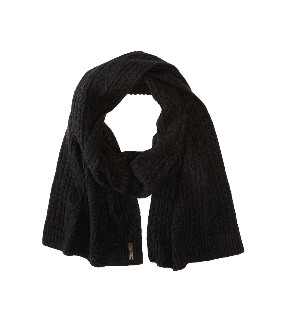 Cole Haan - Cable Muffler (Black) Scarves
