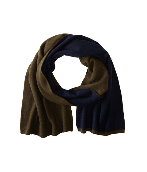 Cole Haan - Doublefaced Colorblock Muffler (Military) Scarves