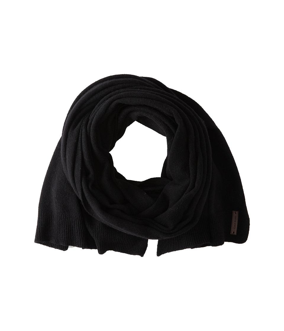 Cole Haan - Lightweight Wool Muffler (Solid Black) Scarves