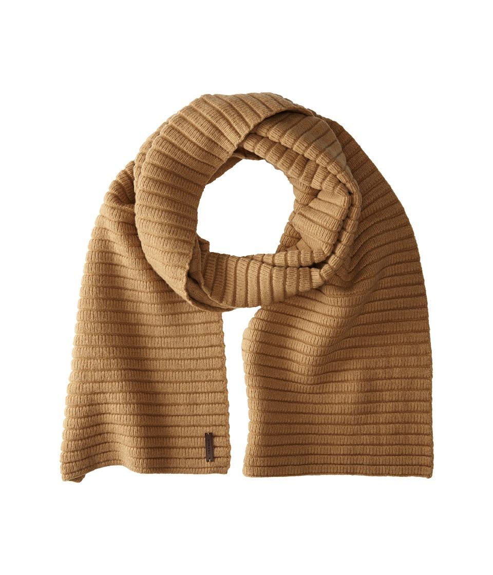 Cole Haan - Ottoman Rib Muffler (Dark Camel) Scarves