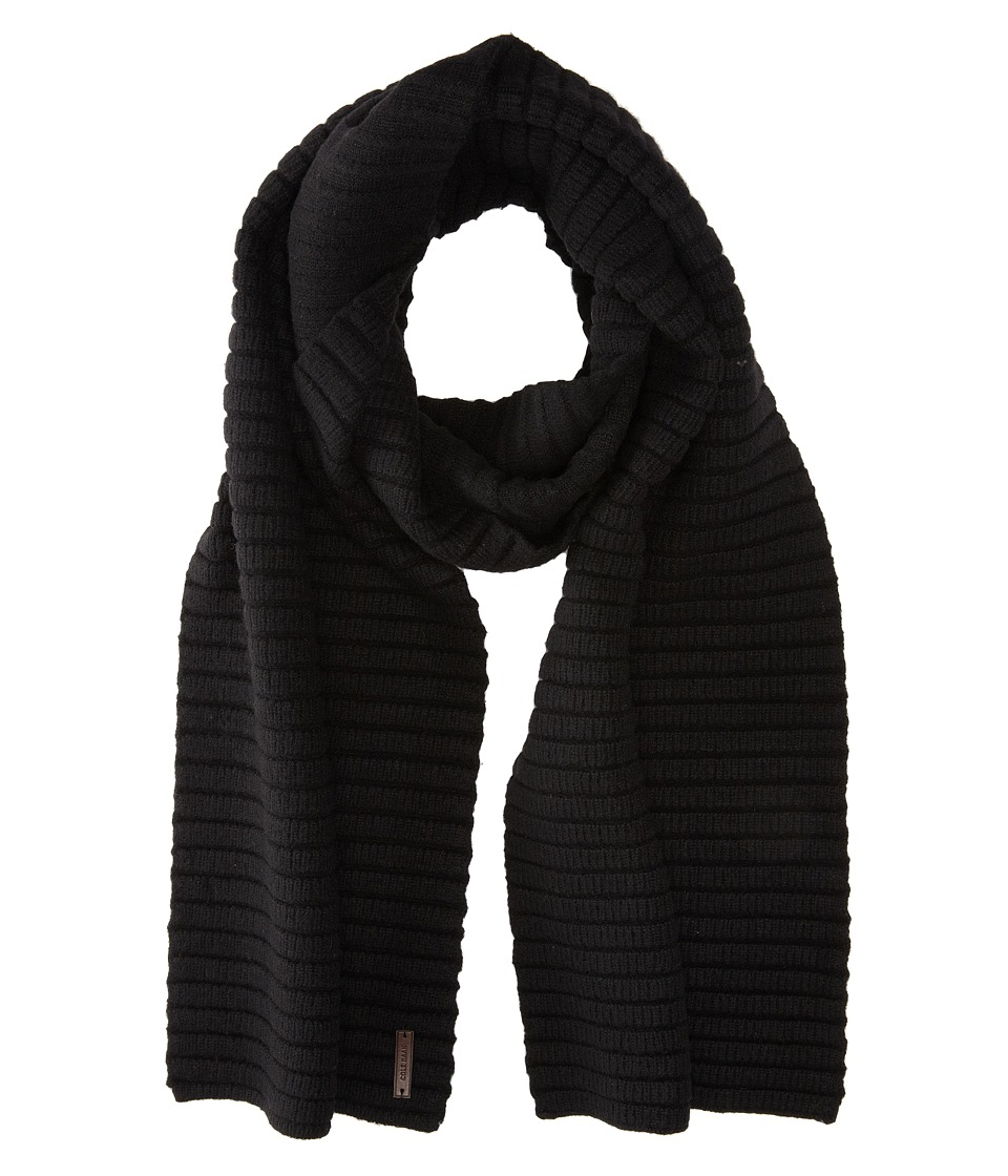 Cole Haan - Ottoman Rib Muffler (Black) Scarves