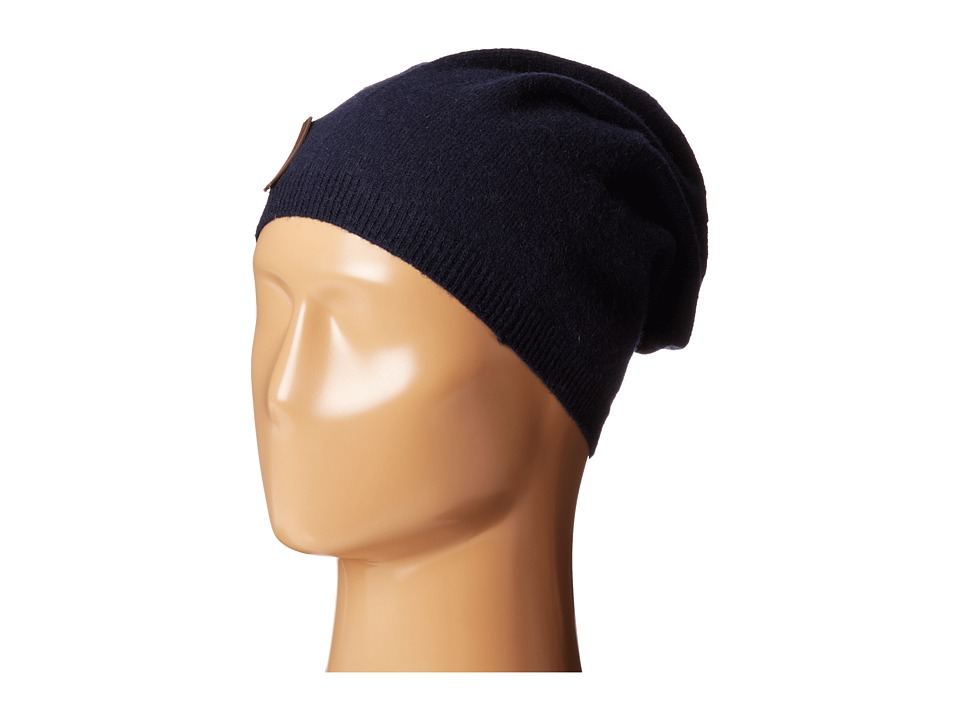 Cole Haan - Lightweight Jersey Elongated Beanie (Solid Blazer Blue) Beanies