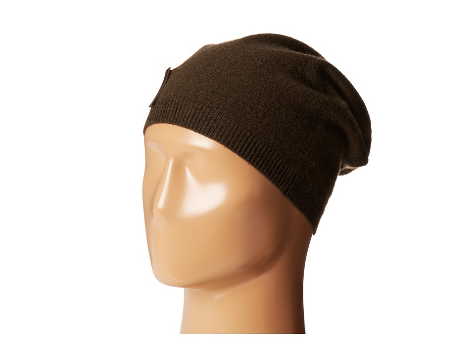 Cole Haan - Lightweight Jersey Elongated Beanie (Solid Military) Beanies