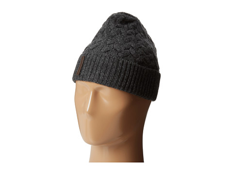 Cole Haan - Large Braid Cuff Hat (Derby/Ash Grey) Beanies