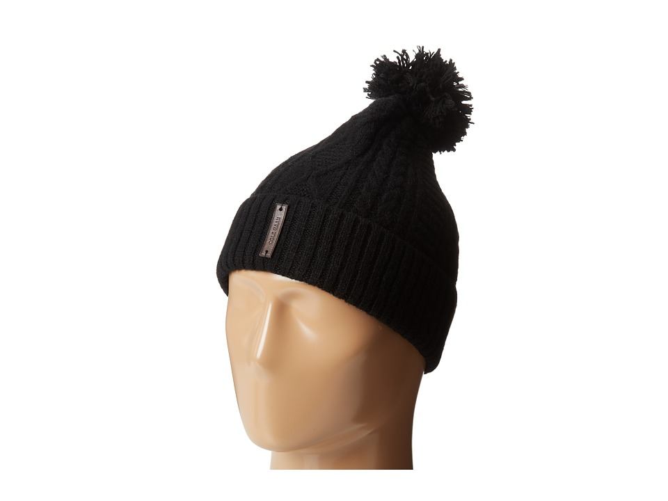 Cole Haan - Cable Cuff Hat (Black) Beanies