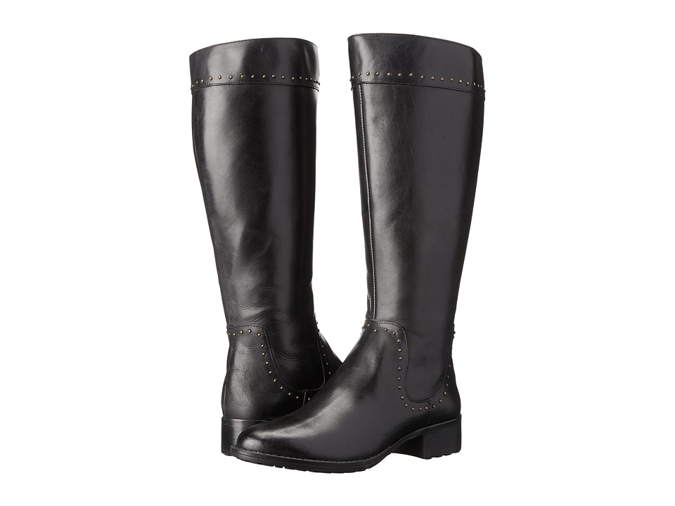 Circa Joan & David - Talaro Wide Calf (Black Wide Leather) Women's Wide Shaft Boots