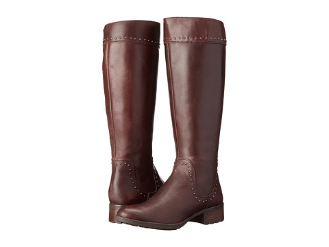 Circa Joan & David - Talaro Wide Calf (Dark Brown Wide Leather) Women's Wide Shaft Boots
