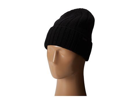 MICHAEL Michael Kors - Rib Cuff Skull Hat (Black) Caps