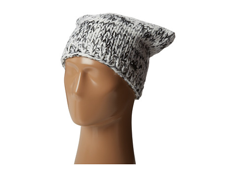 MICHAEL Michael Kors - Multi Knit Oversized Hat (White/Black/Light Grey) Caps