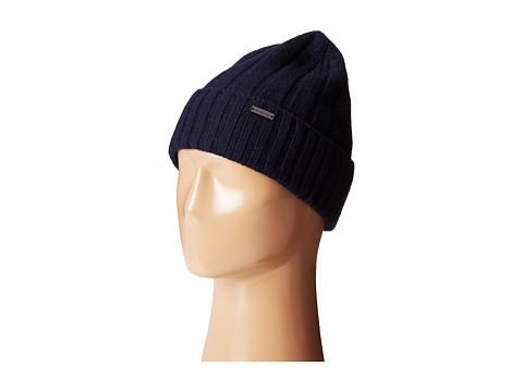 MICHAEL Michael Kors - Rib Cuff Skull Hat (Navy) Caps