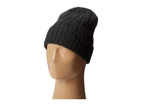 MICHAEL Michael Kors - Rib Cuff Skull Hat (Charcoal) Caps
