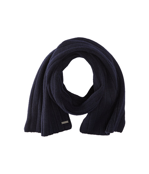 MICHAEL Michael Kors - Ribbed Scarf (Navy) Scarves