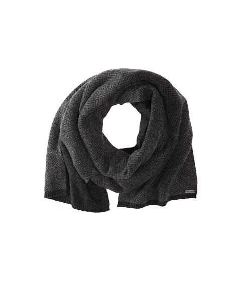 MICHAEL Michael Kors - Herringbone Rever Scarf (Charcoal/Banker) Scarves