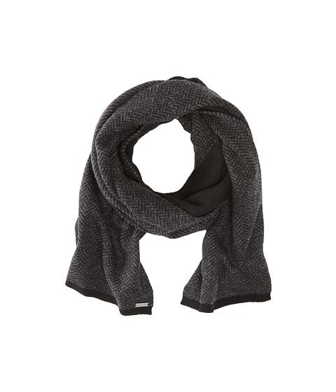 MICHAEL Michael Kors - Herringbone Rever Scarf (Black/Charcoal) Scarves