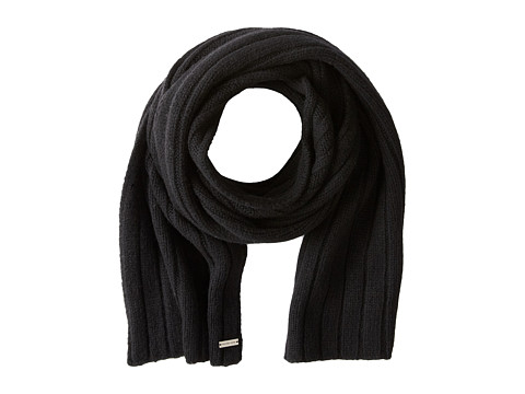 MICHAEL Michael Kors - Ribbed Scarf (Black) Scarves