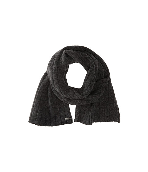 MICHAEL Michael Kors - Ribbed Scarf (Charcoal) Scarves
