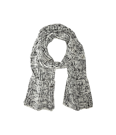 MICHAEL Michael Kors - Multi Knit Pocket Scarf (White/Black/Light Grey) Scarves